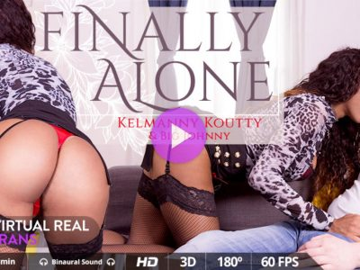 Finally Alone VRT shemale porn
