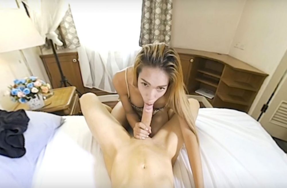 GroobyVR Thai t-girl ladyboy vr shemale movie