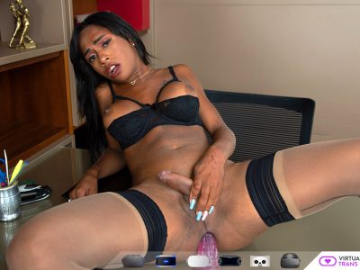 ebony shemale virtual reality masturbation