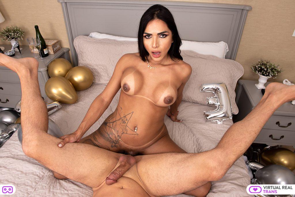 Drika Lima busty shemale pornstar VR
