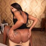 beautiful ebony tgirl Lorena Allana riding dick with black ass